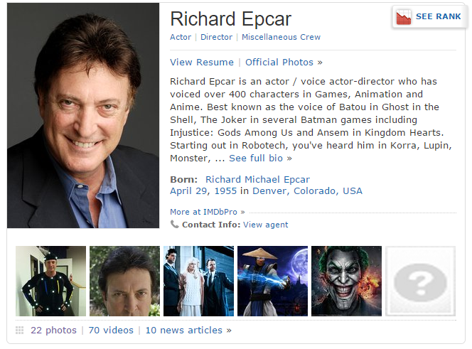 richard epcar height